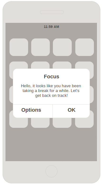 notifications alert wireframe